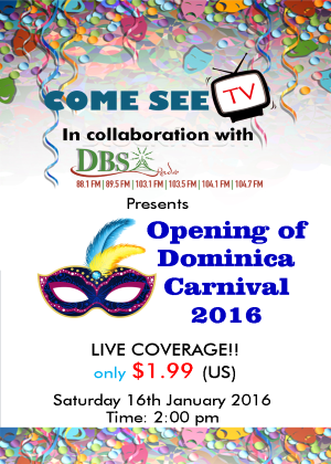 Opening of Dominica Carnival 2016