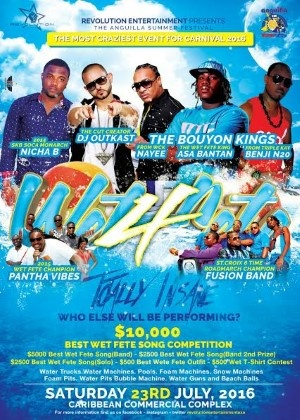 Wet Fete 4 in Anguilla 2016