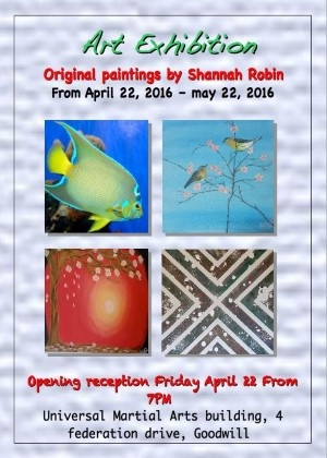 Shannah Robin Art Exhibition 22-04-2016