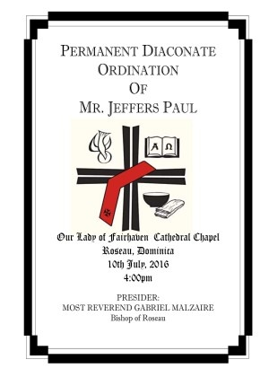 PERMANENT DIACONATE ORDINATION OF MR. JEFFERS PAUL