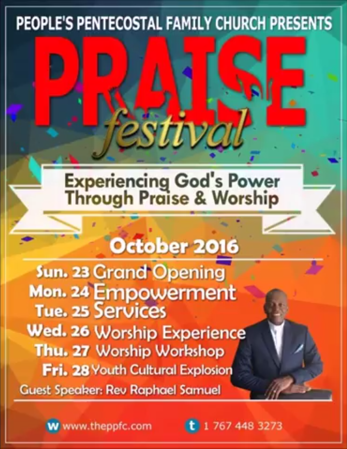 The People's Pentecostal Family Church presents Praise Festival 2016