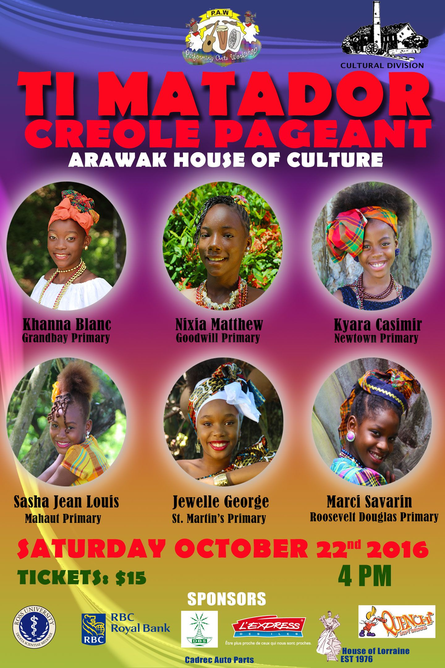 Watch the Ti Matador Creole Pageant 2016
