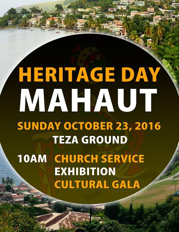 View the Heritage Day Dominica 2016 activity in Mahaut, Dominica.