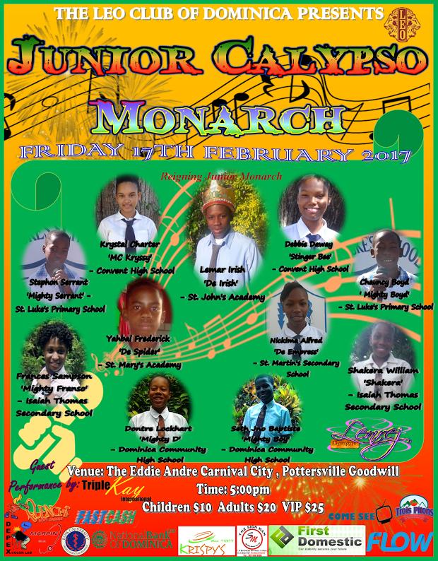 Leo Club of Dominica presents Junior Calypso Monarch 2017