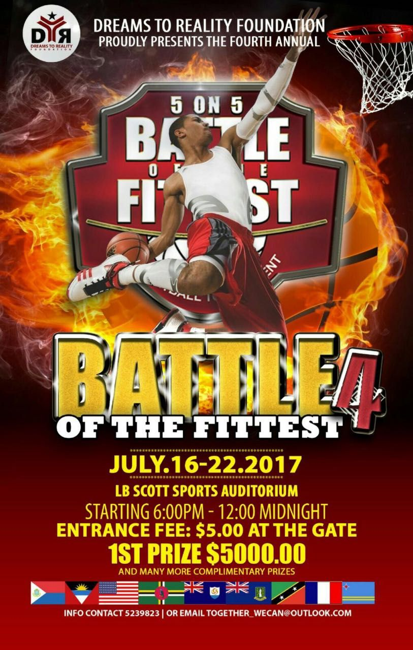 Battle of the Fittest Basketball Tournament 2017 in SXM