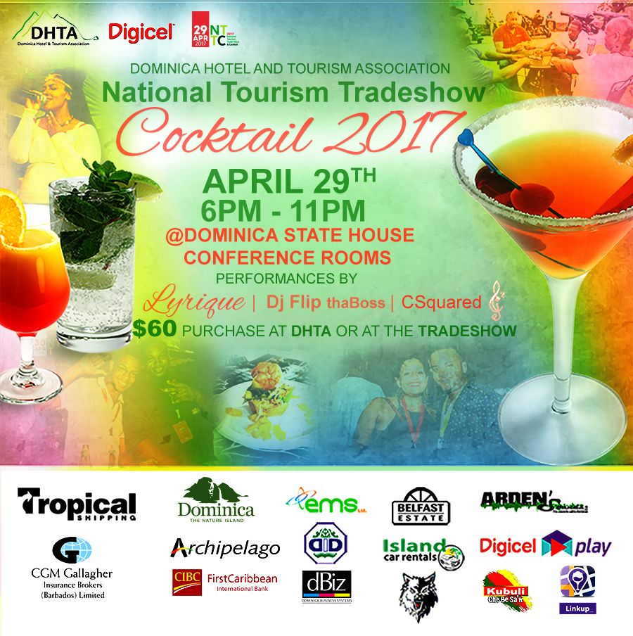 Dominica National Tourism Tradeshow & Cocktail 2017