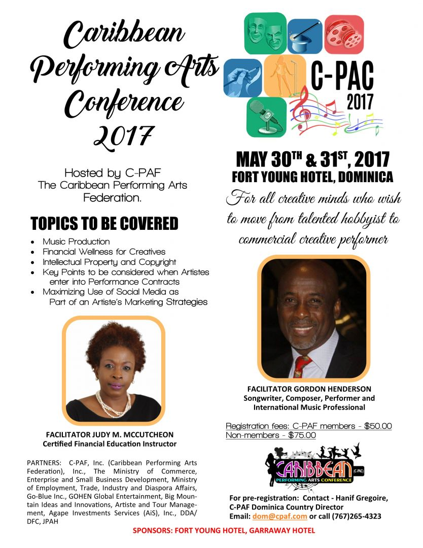 C-PAF presents Caribbean Performing Arts Conference 2017