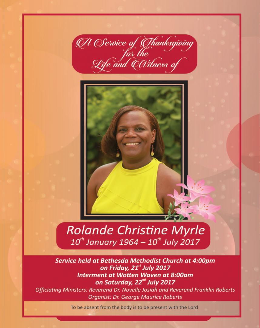 Rolande Christine Myrle Funeral - July 21, 2017