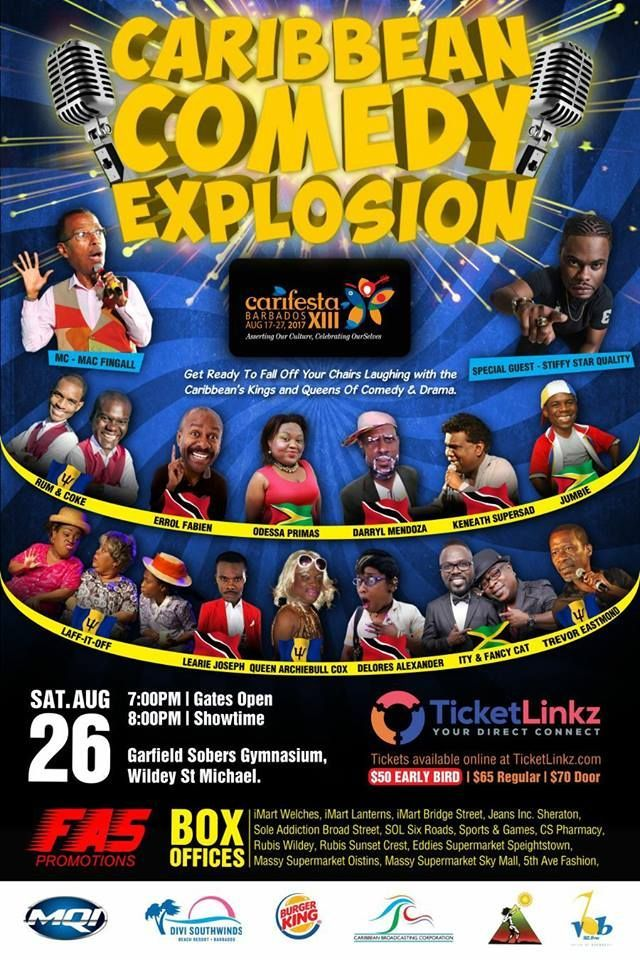View CARIFESTA XIII - PAY PER VIEW SIGNAL EVENT - Caribbean Comedy Explosion