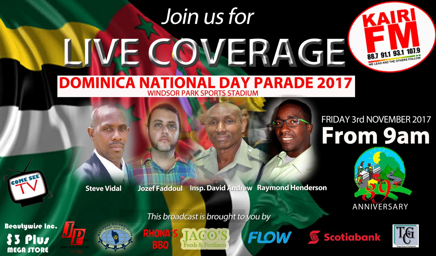 Dominica National Day Parade (39 yrs of Independence)