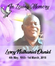 Funeral Service of Leroy Nathaniel Daniel 15th March 2018