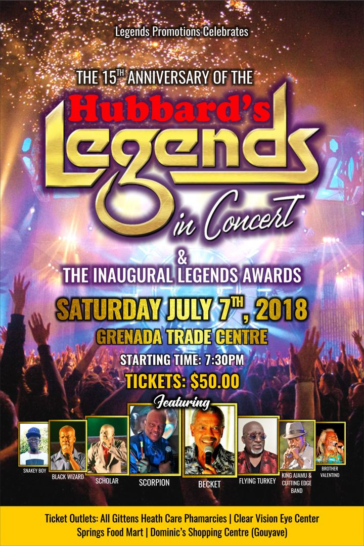 15th Anniversary Hubbard's Legends in Concert