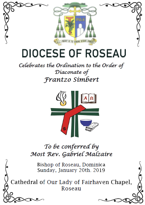 Ordination to the Order of Diaconate of Frantzo Simbert
