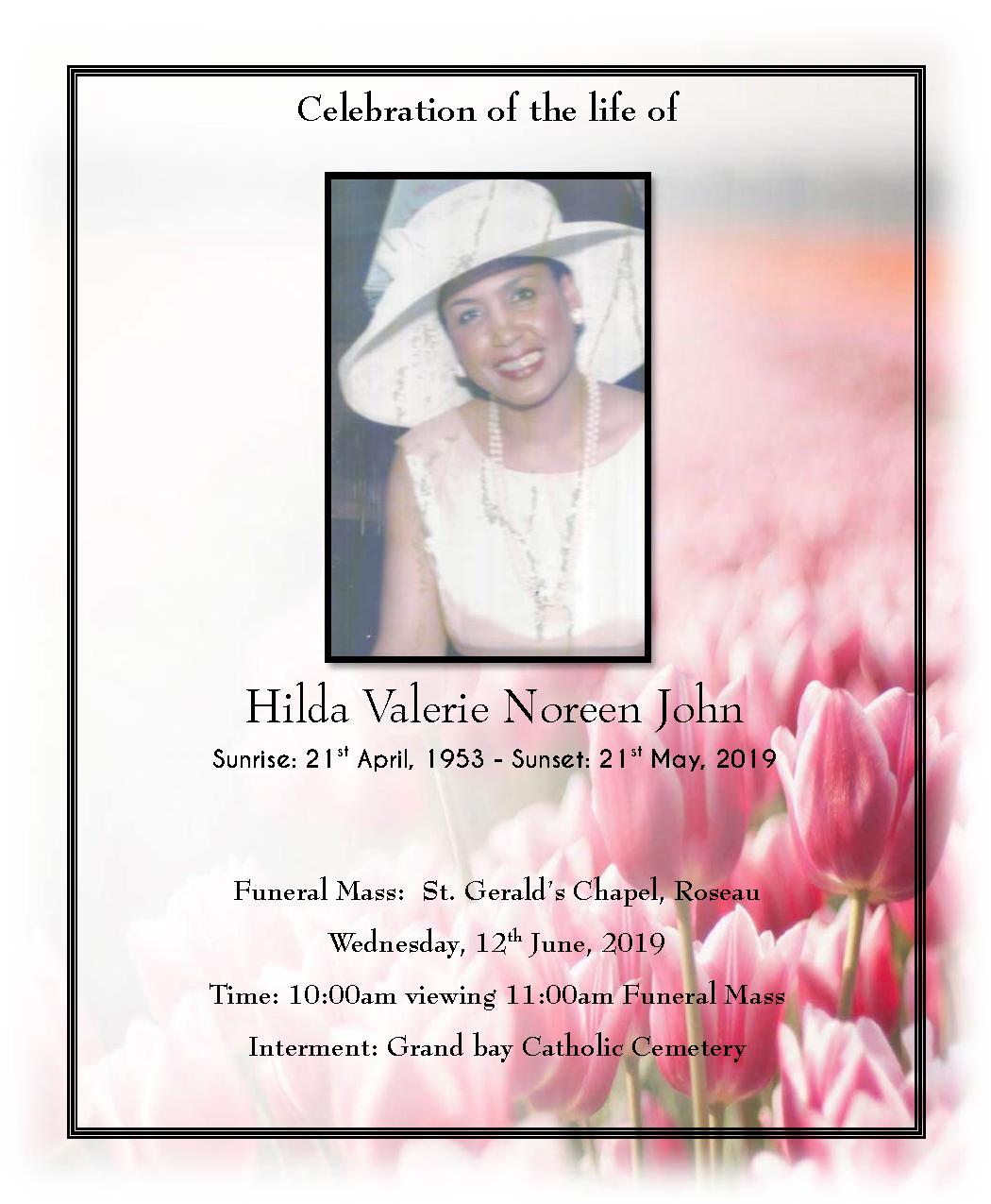 Funeral Service of Hilda Valerie Noreen John - 12 June 2019