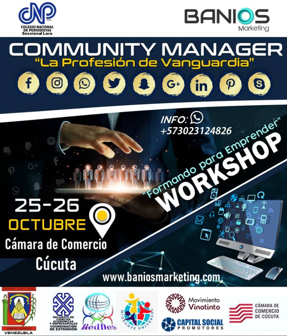 Banios TV presenta, Community Manager - La Profesión de Vanguardia - Cúcuta, Colombia, 2019