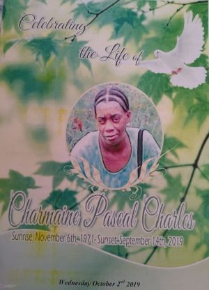 Funeral Service of Charmaine Pascal Charles 02 October 2019