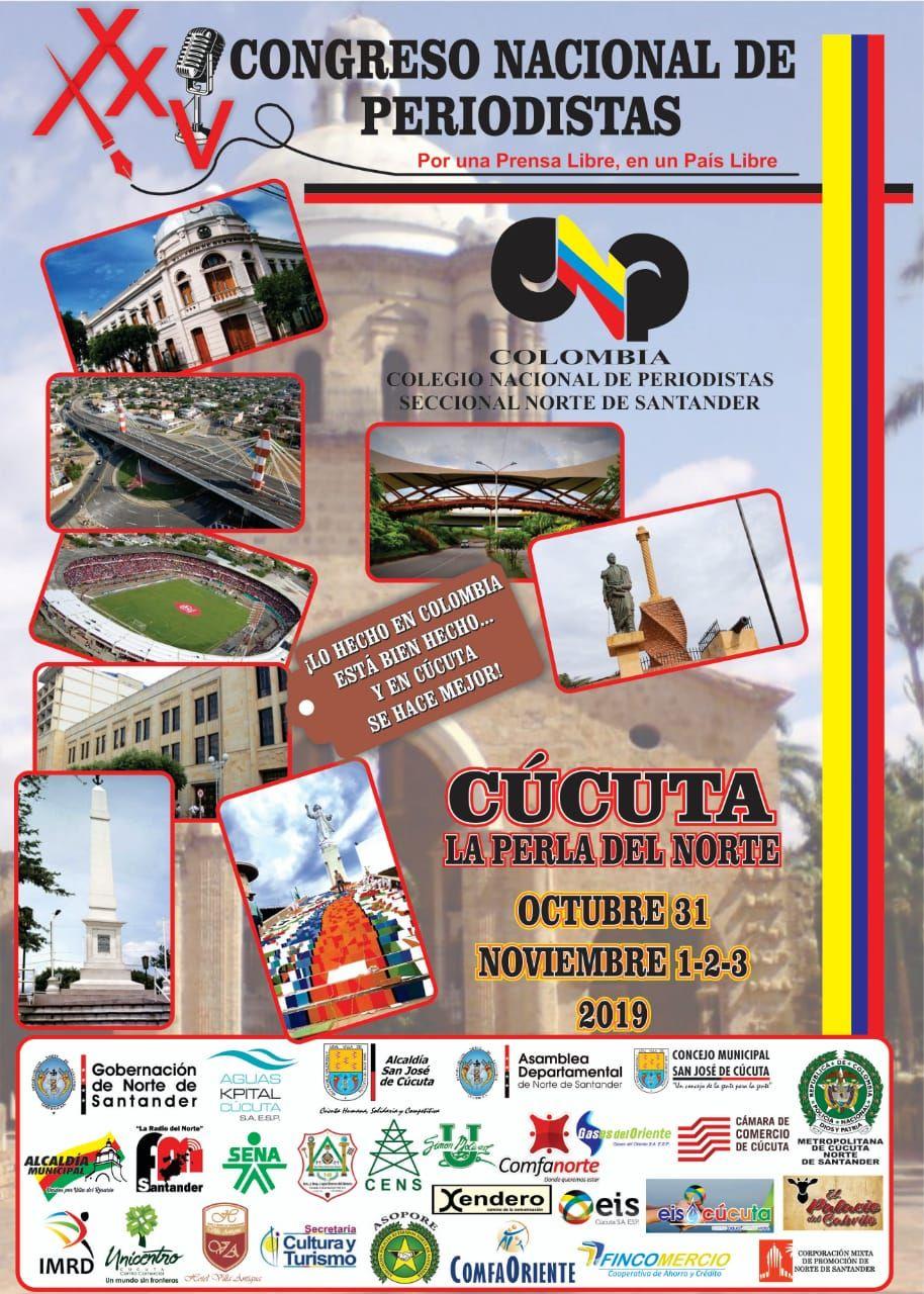 Congreso Nacional de Periodistas - Cúcuta Colombia, Noviembre 2019