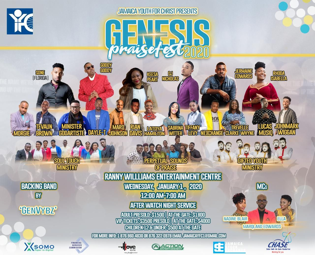 Jamaica Youth For Christ Presents Genesis 2020