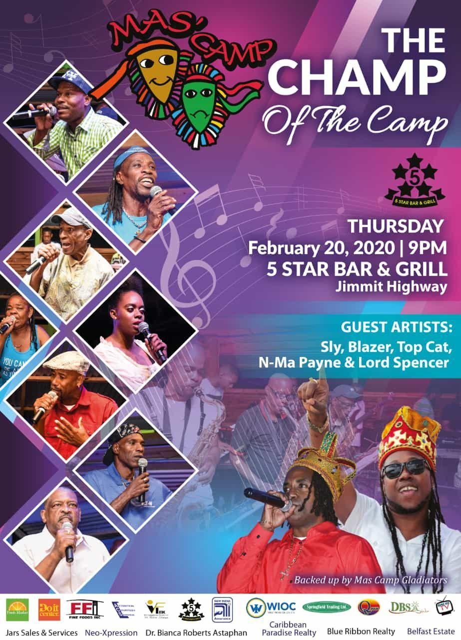 Showdown Mas Camp Calypso Tent 2020 Season
