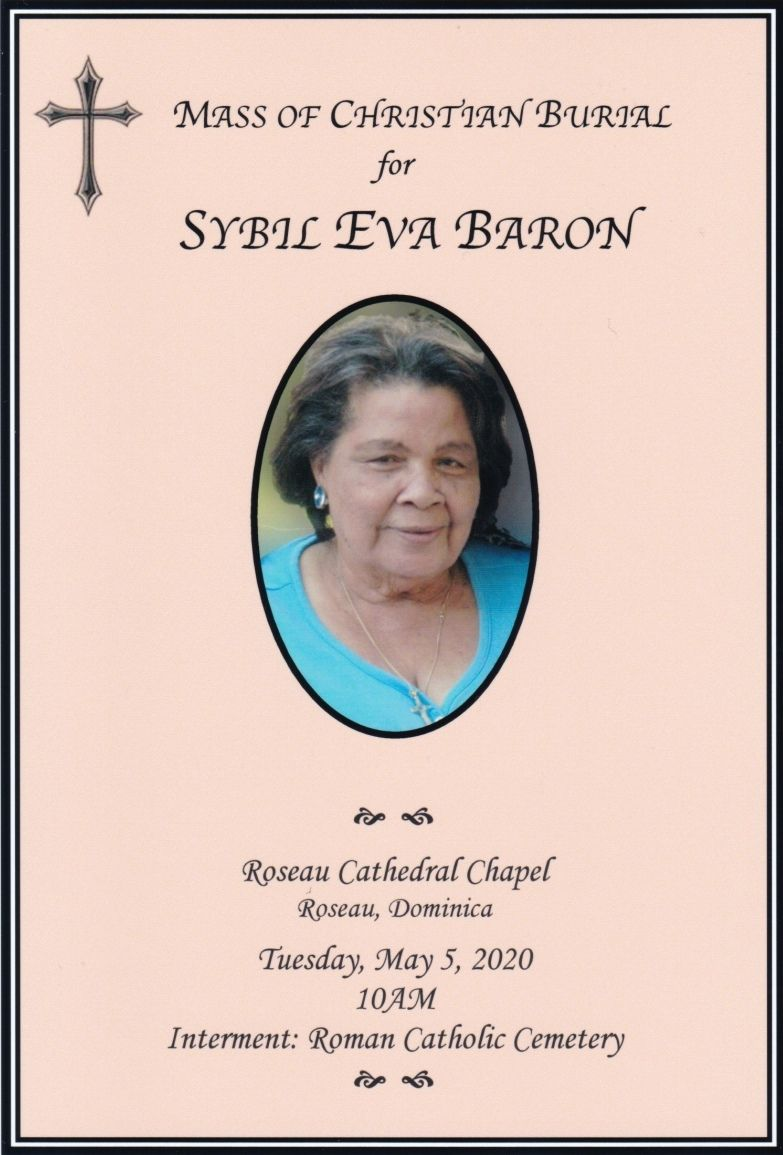 Funeral Service of Sybil Eva Baron 05 May 2020