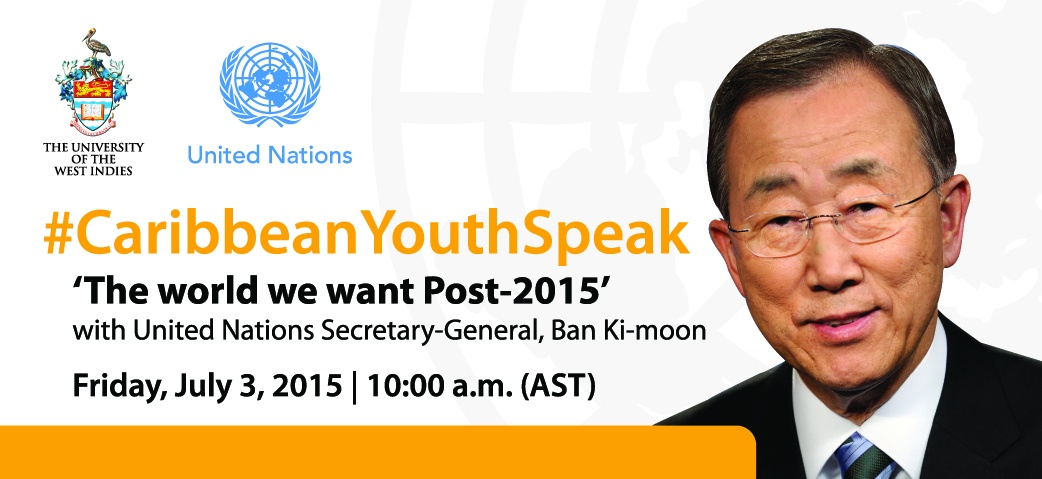 ''''Caribbean Youth Speak featuring Ban Ki-moon''''