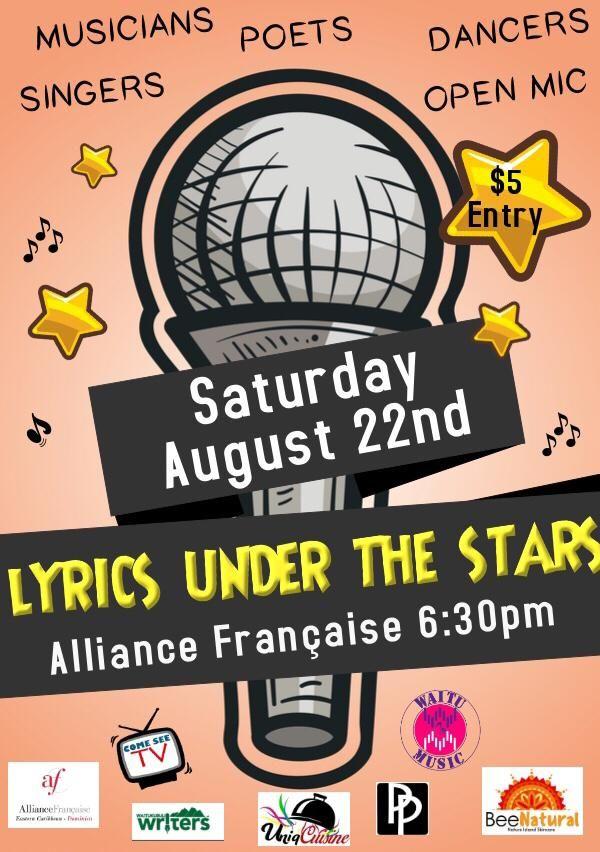 Lyrics under the Stars August 22 2020