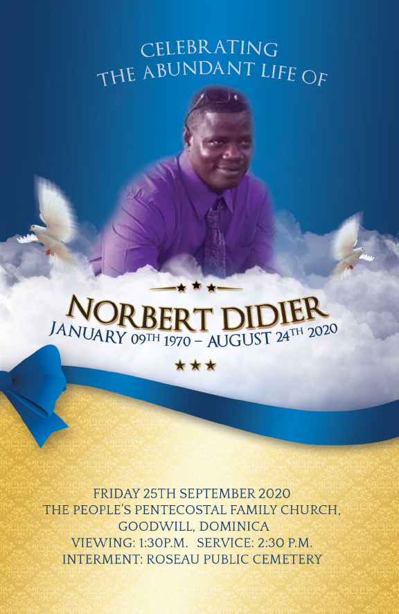 Funeral of Norbert Didier 25 September 2020