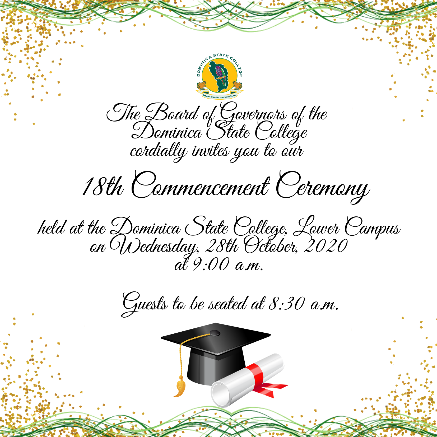 Dominica State College 18th Commencement Ceremony October 28 2020