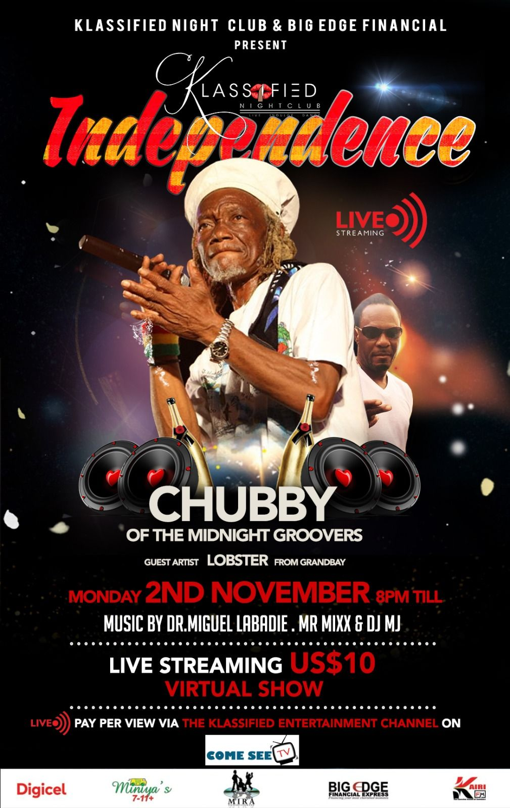 A Klassified Independence featuring Chubby of the Midnight Groovers, November 2nd 2020