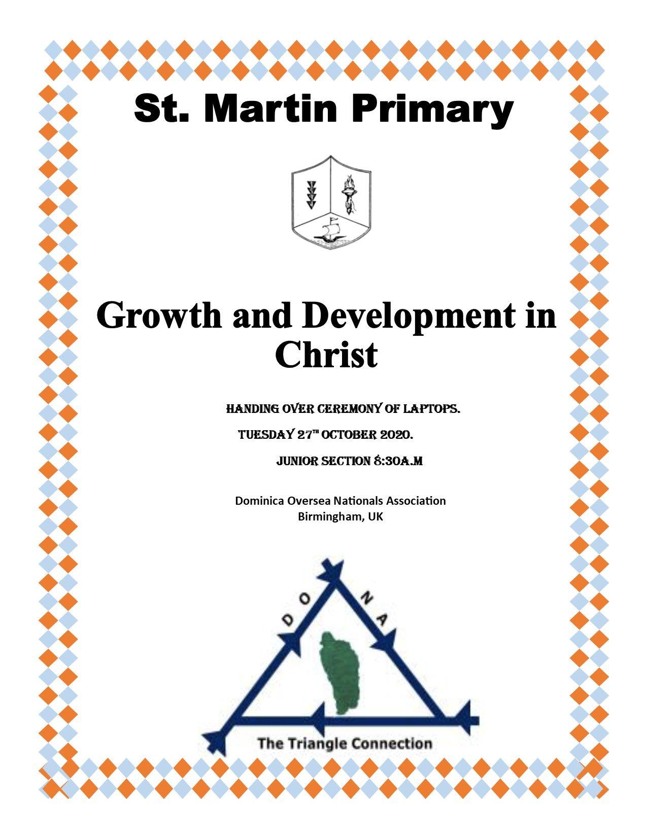St Martin Primary School Laptop Handing Over Ceremony, 27 October 2020
