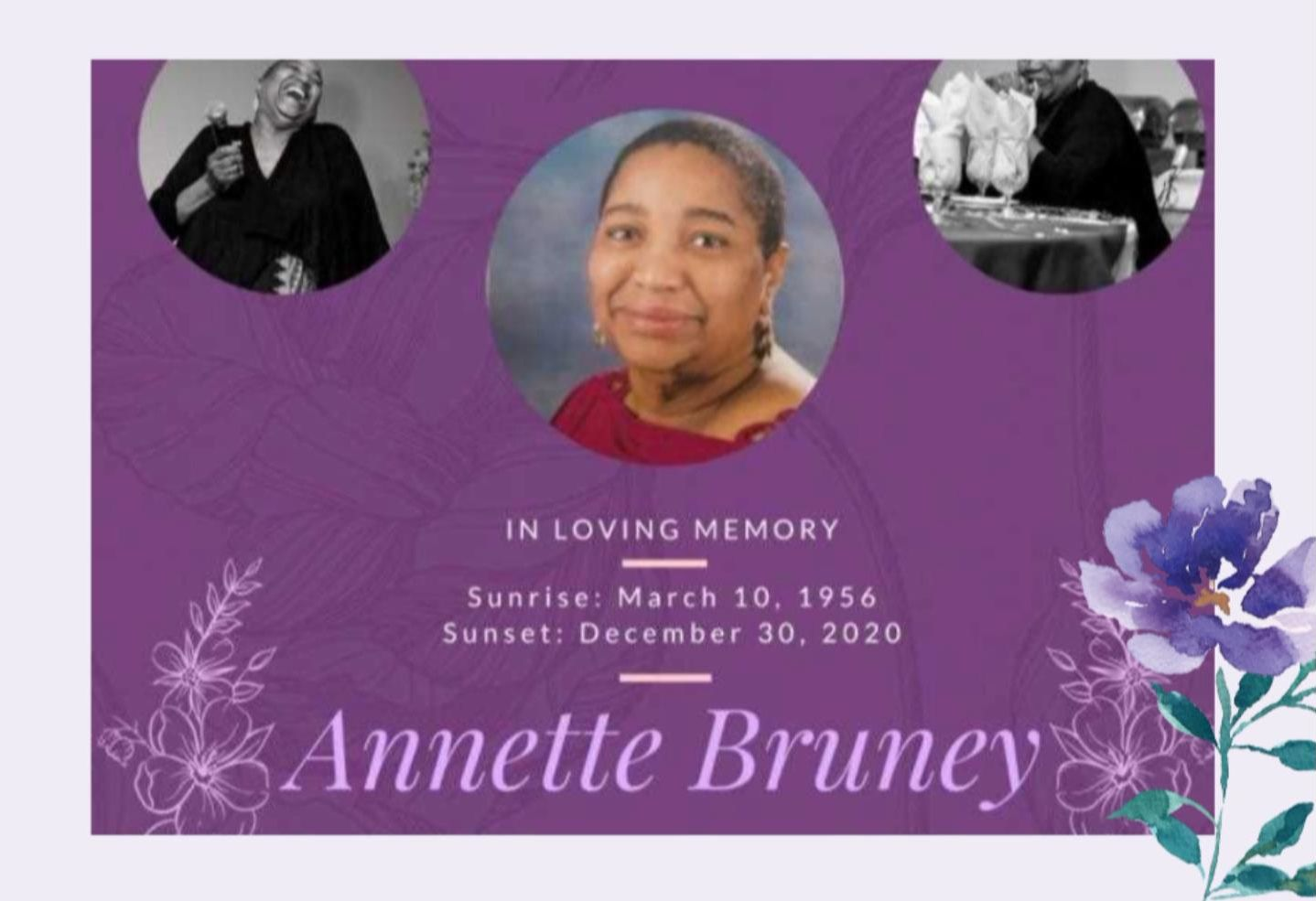 SERVICE OF CELEBRATION AND THANKSGIVING FOR THE LIFE OF ANNETTE DAGMA BRUNEY nee CAINES, 19 January, 2021