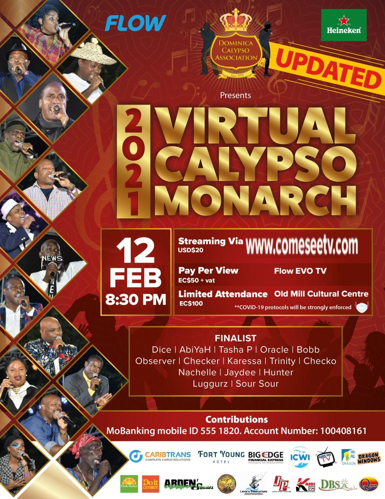 Dominica Virtual Calypso Monarch 2021 Season