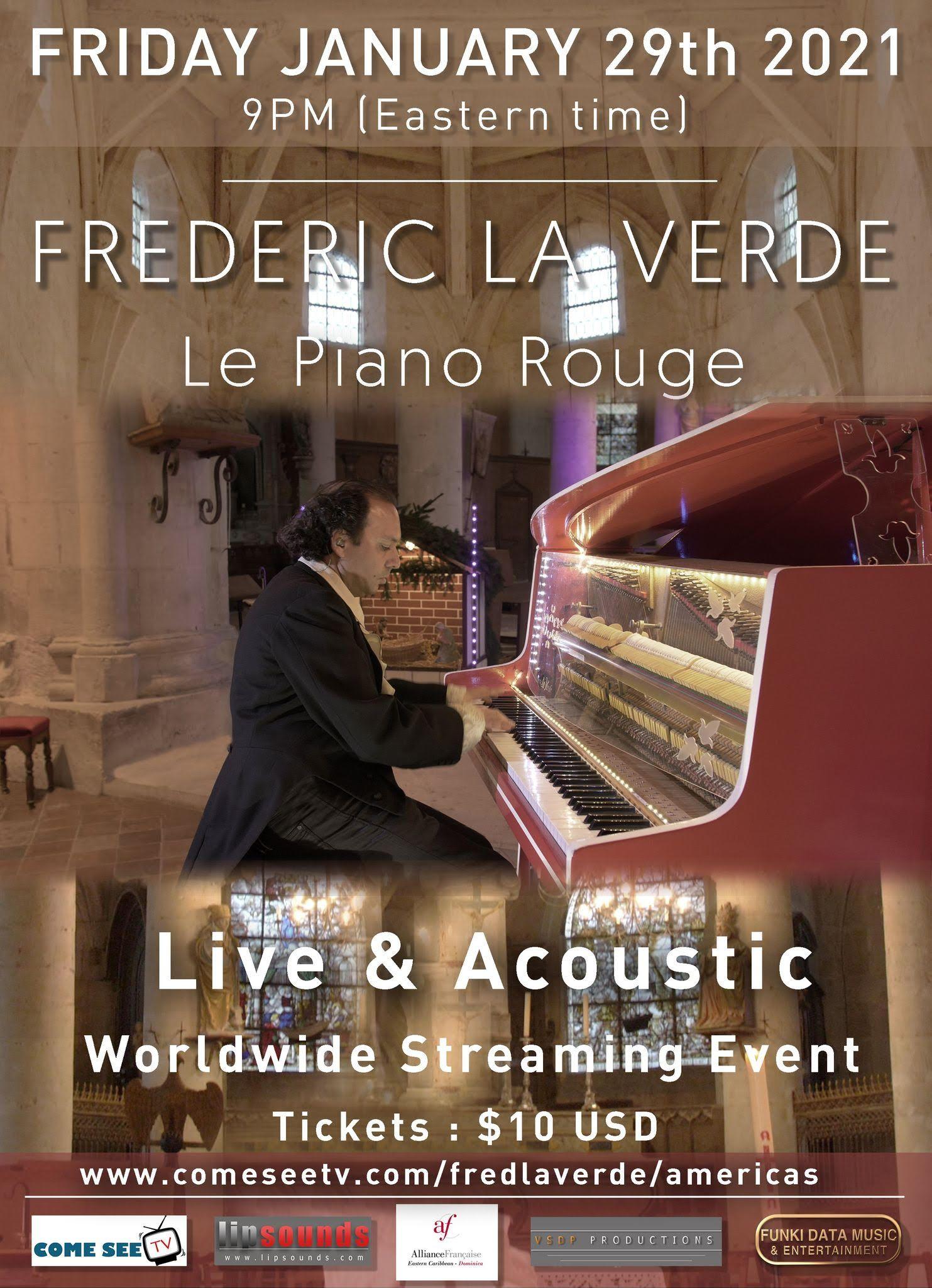 Concert / AMERICAS / Frédéric La Verde et Le Piano Rouge