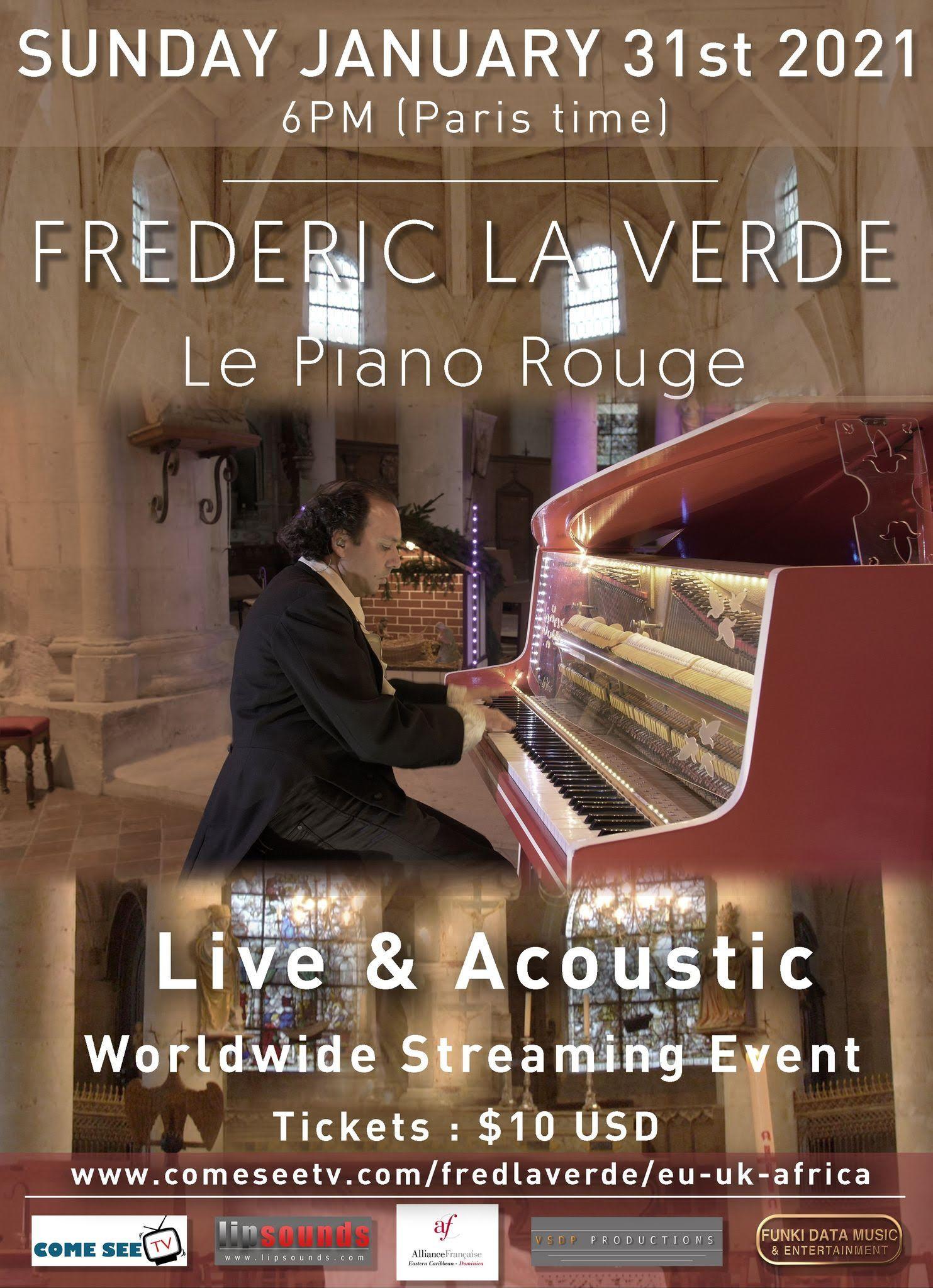 Concert / EUROPE-UK-AFRICA / Frédéric La Verde et Le Piano Rouge
