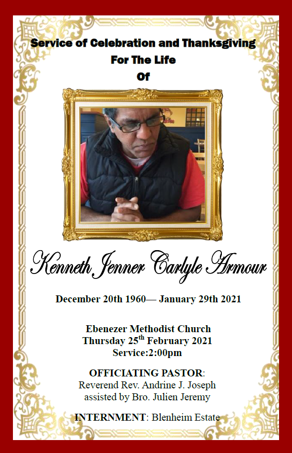 Funeral Service of Kenneth Jenner Carlyle Armour, 25 February, 2021