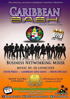''Atlanta Carnival presents Caribbean B.A.S.H. - Business and Social Hour 2015''