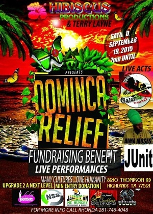 ''''Dominica Relief Fundraising Benefit''''