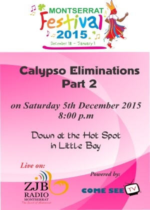 Montserrat Calypso Eliminations 2015 Part 2 live