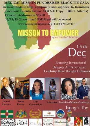 Mission to Empower Dominica - Fundraising Gala live from Atlanta