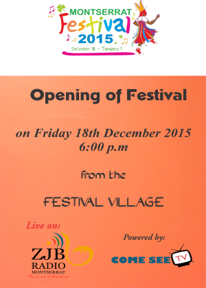 Montserrat Opening of Festival 2015 live