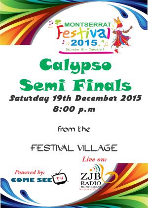 Montserrat Calypso SemiFinals 2015 live
